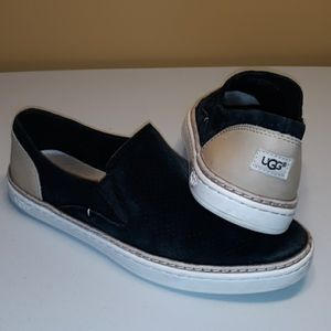 UGG Black Loafer Style Womens Size 6.5